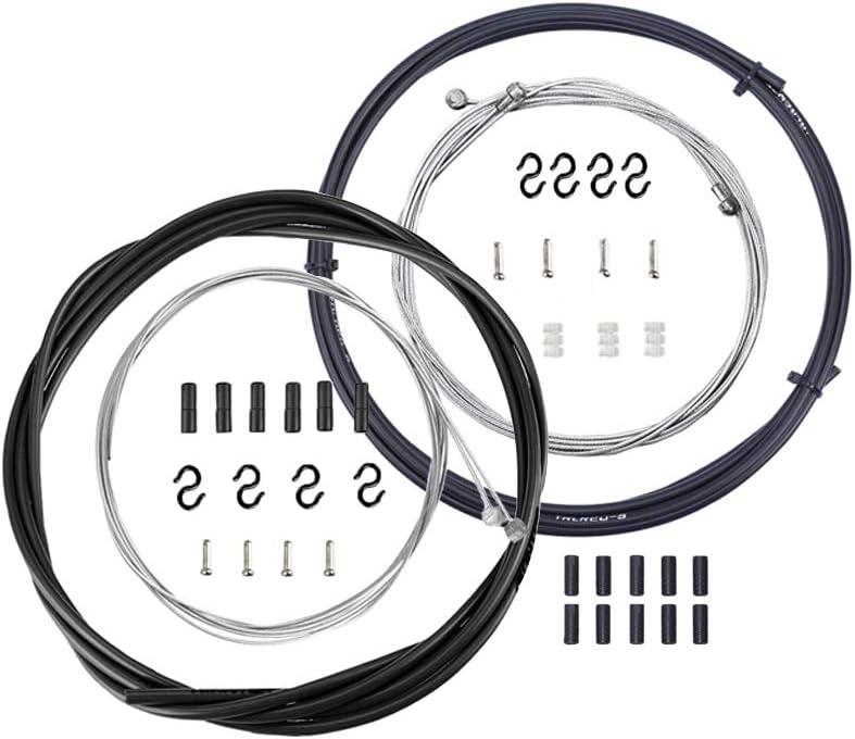 Bestgle Cable Freno y Cable Cambio,Cable de Palanca de Cambios para Bicicleta Accesorios de Bicicleta Adecuado para Bicicletas de montaña y Bicicletas de Carretera.