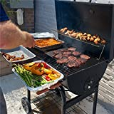 broiler pan gas top stove - 75 inch Long Roll Non Stick BBQ Grilling Mat | Cut to Any Size Liner | PFOA and BPA-Free | Heavy Duty - Reusable | FDA Approved Gas or Charcoal Grill, Electric Toaster Ovens | Stove Top Liner