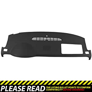 DashSkin Molded Dash Cover Compatible with 07-14 GM SUVs w/Dash Speaker in Black/Ebony