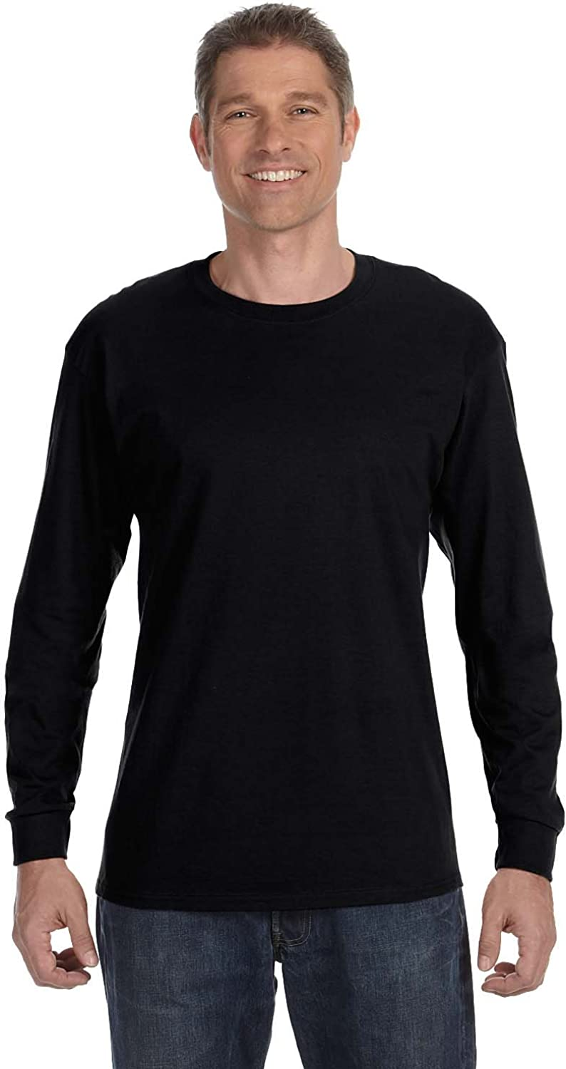 Hanes 5586 Men's Tagless Long Sleeve Tee 2-Pack