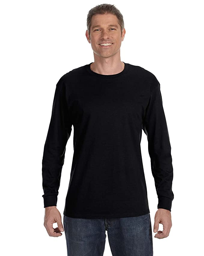 Hanes TAGLESS 6.1 Long Sleeve T-Shirt, XL-Black