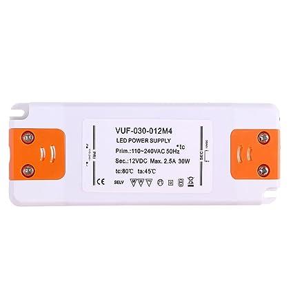 ounona 12 V 30 W LED de transformador de conductores convertidor de ultra de controladores 2.5