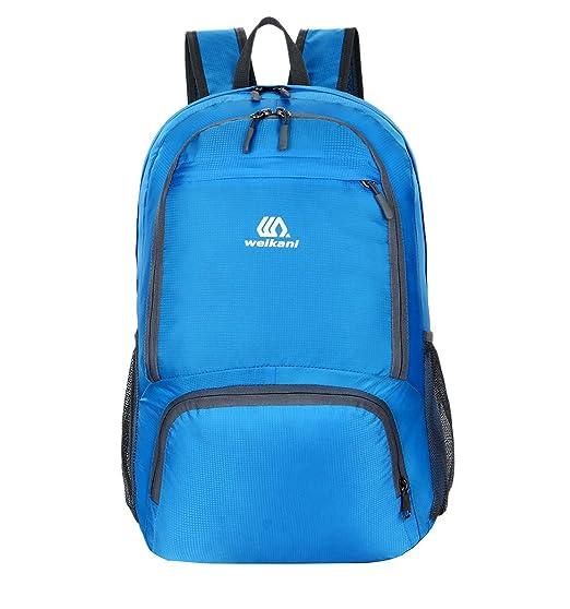 445a7fa5b3 LLDE Portatile Zaino Leggero Uomo Outdoor Backpack Tinta Unita Casual  Daypack Grande Rucksack Impermeabile Viaggio Zainetto: Amazon.it: Sport e  tempo libero