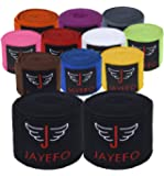 Jayefo Pair Boxing MMA HANDWRAPS 180 INCHES 4.5 Meters Official Muay Thai Kickboxing Fish Wrist Knuckle Professional Men…