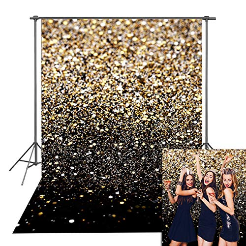 Glitter Wall Art (Daniu Gold Glitter Sequin Spot Backdrops Starry Sky Shining Astract Photo Background Party Wedding Children Newborn Photography Studio)