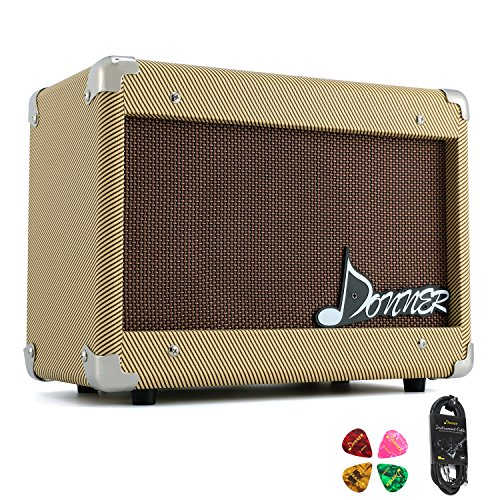 Edge Amplifier - Donner 15W AMP Acoustic Guitar Amplifier Kit DGA-1 G with 10 Feet Guitar Cable