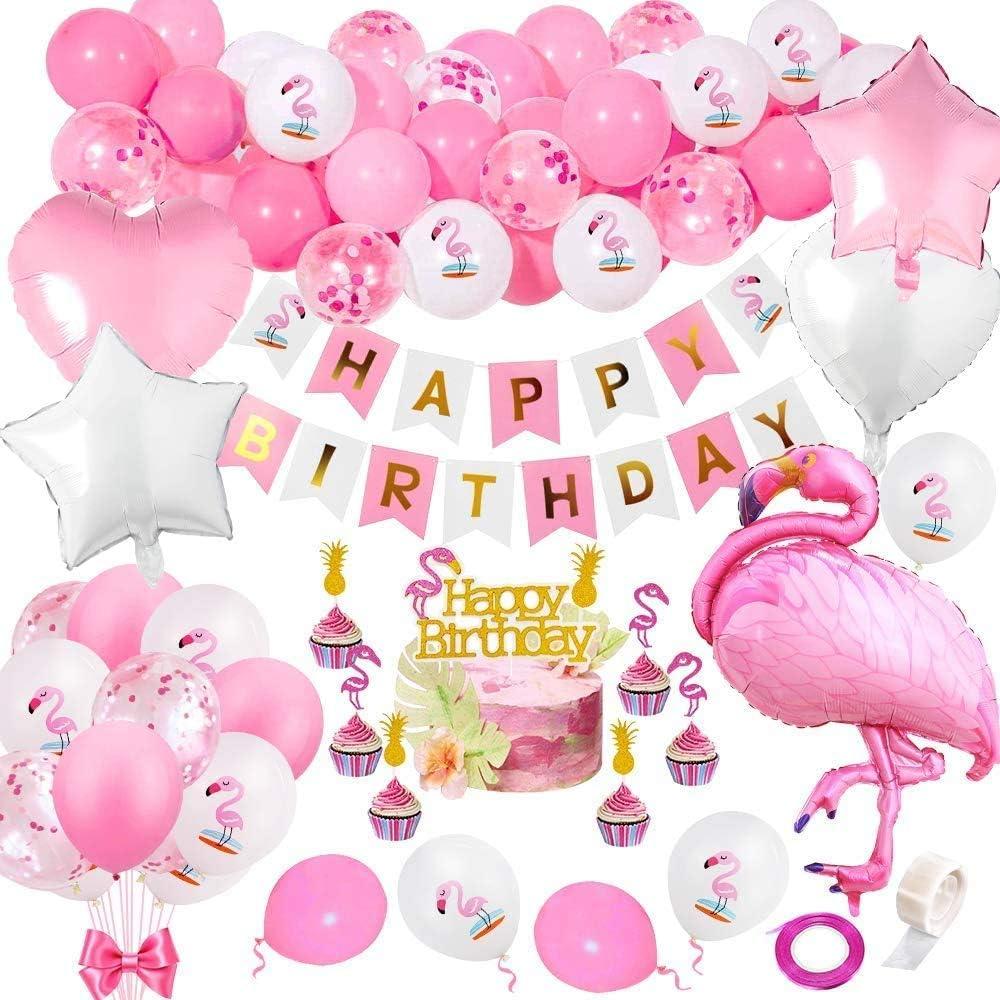 Lustiges Einhorn Flamingo Folien Ballon Achat steigt Geburtstagsfeier