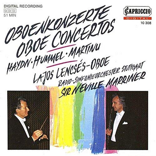 (Haydn: Oboe Concerto, Hob.VIIg:C1 - Hummel: Introduction, Theme and Variations, Op. 102 - Martinu: Oboe Concerto, H. 353)