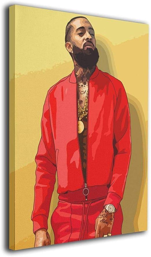 New Nipsey Hussle Rapper Hot Hip Hop Music Singer Star Fabric Poster X-8-24x36