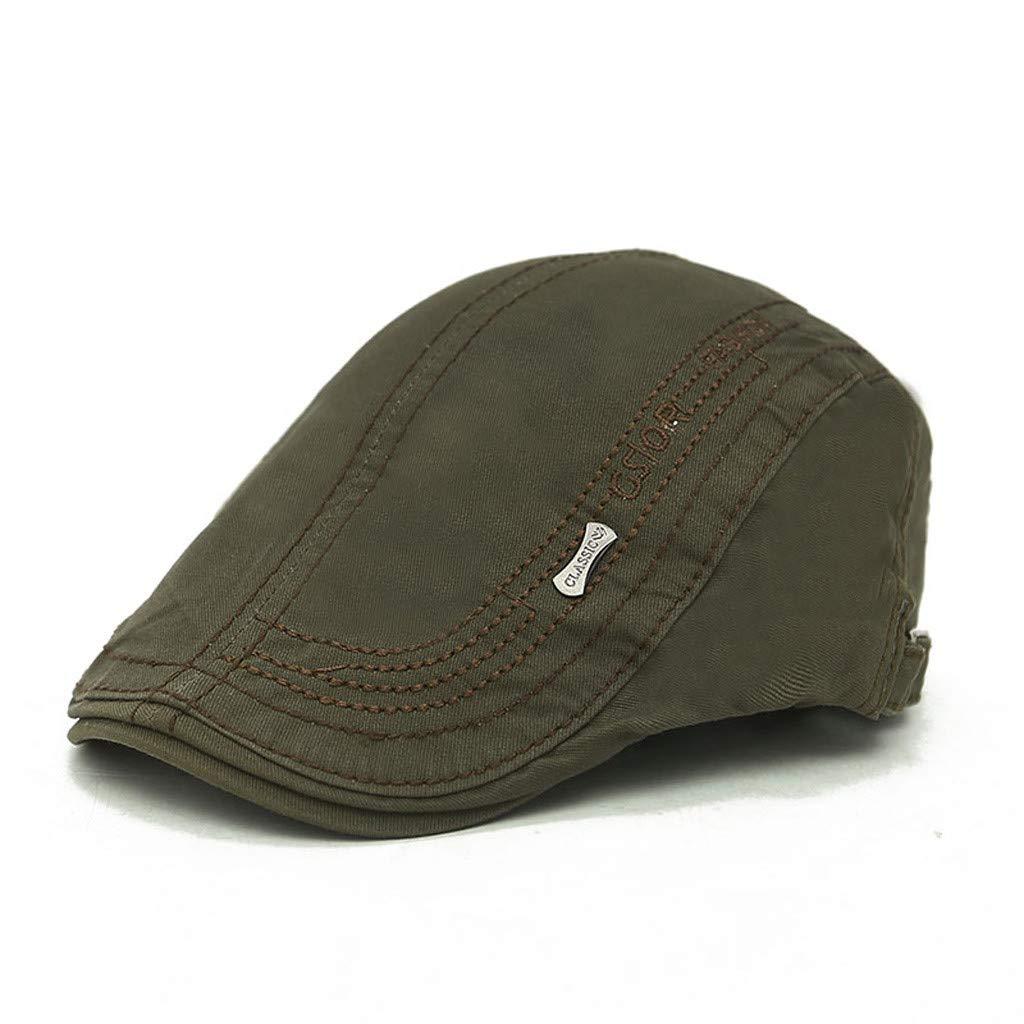 ZTY66 Mens Warm Wool Tweed Blend Newsboy Flat Cap Ivy Cabbie Driving Winter Hat