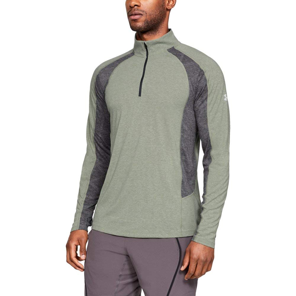 Under Armour Men's Threadborne Swyft ¼ Zip Sweatshirt, Grove Green Light He (505), Medium