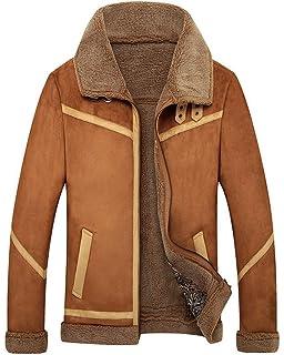 kemilove Mens Winter Spread Collar Lamb Cashmere Lined ...