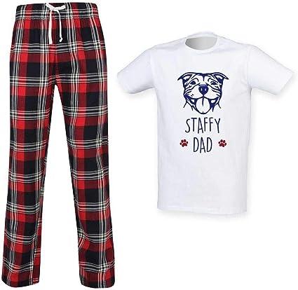 60 Second Makeover Limited Staffy Papa Escocés Pijama conjunto para el día del padre, ropa de regalo Staffordshire Bull Terrier