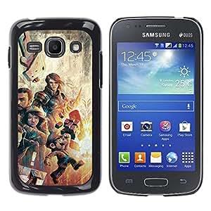 // PHONE CASE GIFT // Duro Estuche protector PC Cáscara Plástico Carcasa Funda Hard Protective Case for Samsung Galaxy Ace 3 / Gaming Characters Poster - Mari0 /