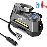 $29 » HAUSBELL Portable air Compressor for Car Tires, 12V DC Air Compressor tire inflator Pump, 150…