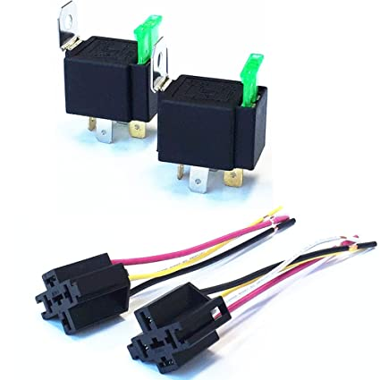 Amazon.com: Qiorange 2 Pack 30A Fuse Relay Switch Harness Set - 12V on 40 amp relay, 4 prong relay, 5 pin 12 volt relay, 12 volt 30 amp relay, 12 volt latching relay, wire 12 volt relay, 12 volt 50 amp relay, yl 388 s relay, 4 pole 12v relay, 60 amp 12 volt relay, 12v 30a relay, 24 volt relay, 4 pin 28 volt relay,