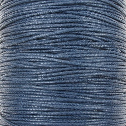 1mm Waxed Cotton Cord Thread Shamballa Macrame Jewellery - Navy Blue - 10 metres