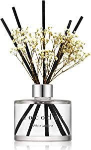 Cocod'or Flower Reed Diffuser/White Jasmine / 6.7oz(200ml) / 1 Pack/Home & Office Decor Aromatherapy Diffuser Oil Gift Set