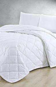 Melange Home 206599 Mélange Home Down Alternative Blanket, F/Q, White, Full/Queen
