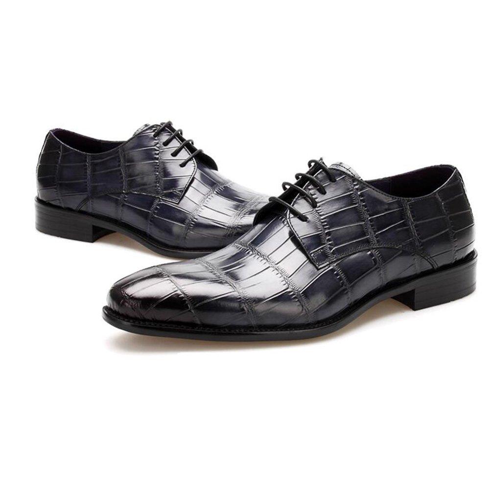 Turnschuhe Men's Leder Freizeit Schuhe Sehnen Schuhe Freizeit Dress Herbst Business Hochzeit Rutschen Schwarzbraun 146a5f