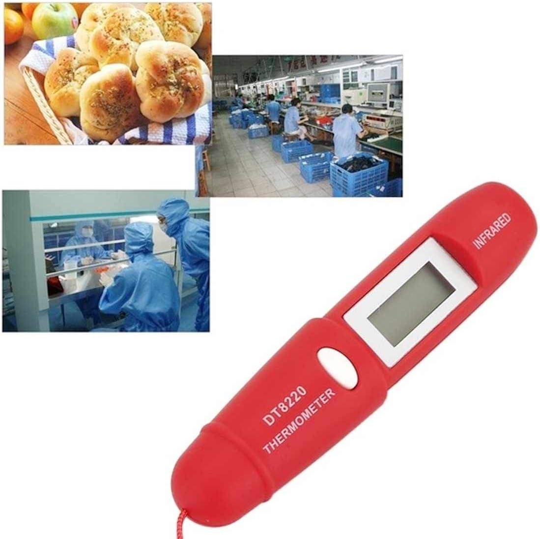 Zerkosvort DT8220 Stift Thermometer ber/ührungslose Thermometer Pistole Infrarot elektronisches Thermometer