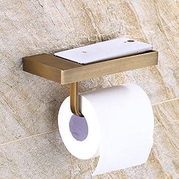 Hlluya Toallero Antique toallero estantes Color 古 WC Cepillo para Papel Toalla Kit para Rack, Soporte de teléfono móvil: Amazon.es: Hogar