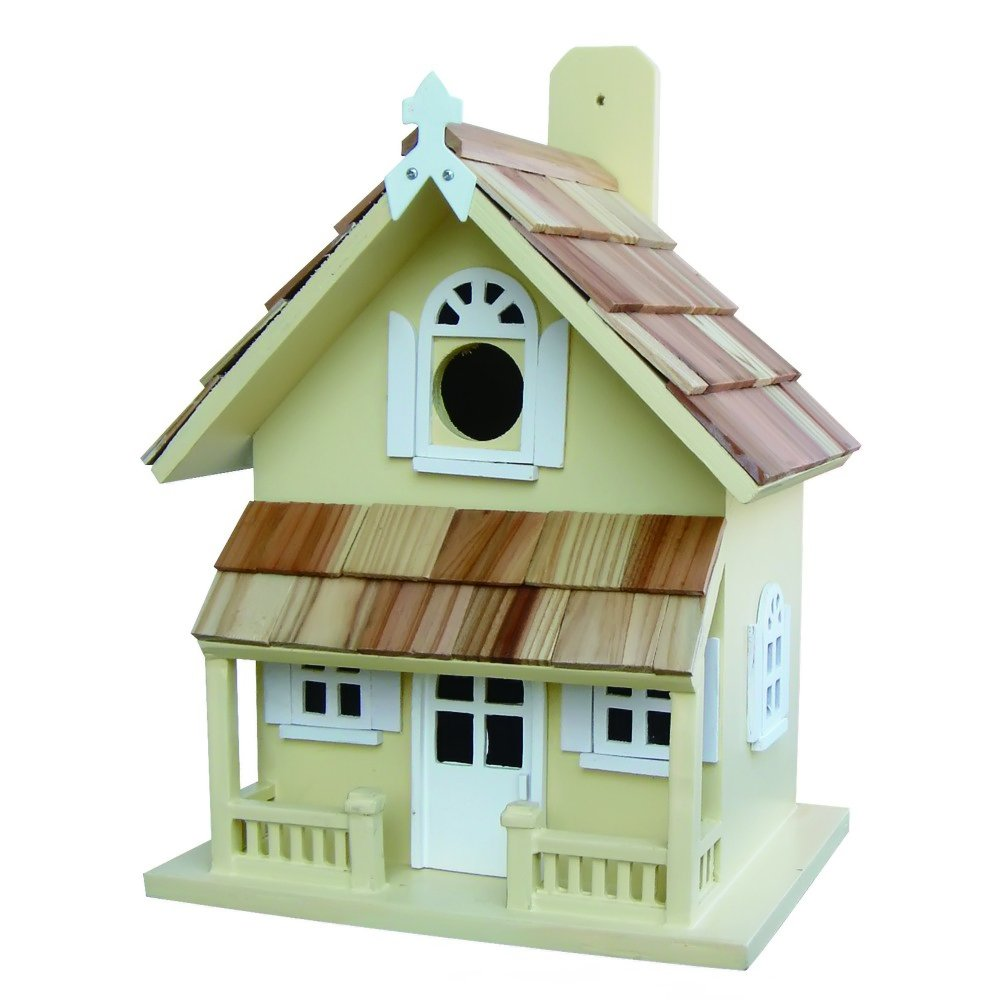 Amazon Home Bazaar Hand Made Victorian Yellow Bird House