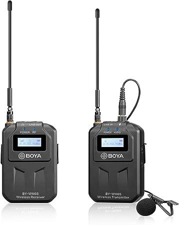 BOYA UHF Wireless Microphone System 1 Transmitter Receiver ...