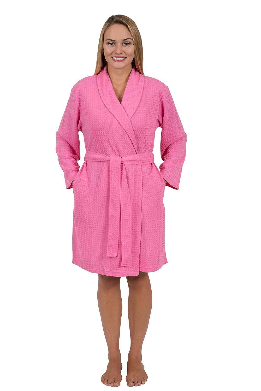 Love This Robe Women's Silky Soft Houndstooth Knit Shawl-Collar Short Robe Home & Travel Robe Bridesmaid Robe