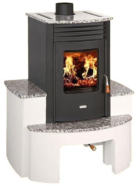 Alta eficiencia moderno Multi combustible chimenea estufa de leña Prity SB