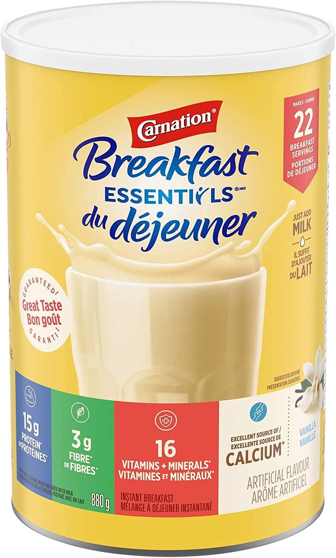 Carnation Breakfast Essentials - Vanilla Instant Breakfast Drink Powder, 880g/31oz, Imported from Canada}