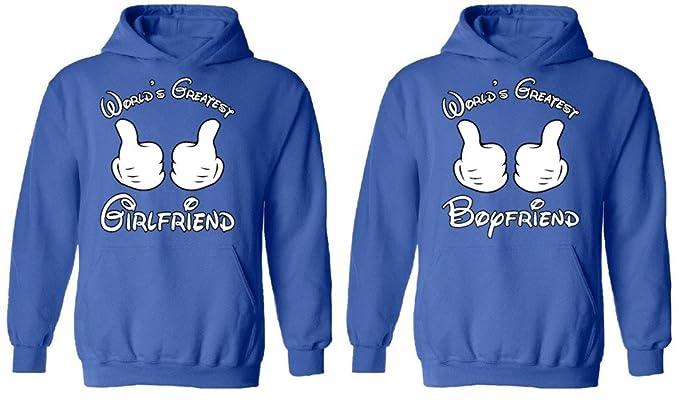 8f9f60bc05 ... Awkwardstyles Matching Couple World s Greatest Boyfriend Girlfriend  Hoodies Blue Men Large Ladies Small ...