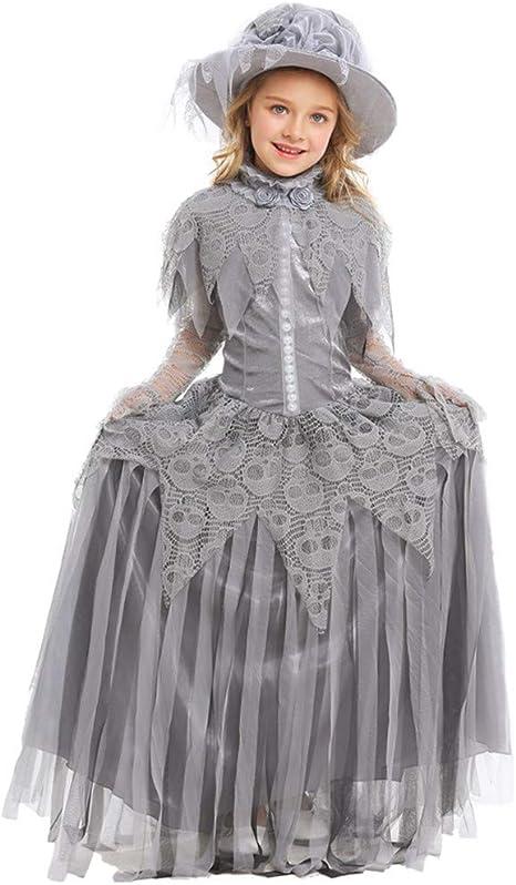 HONGBI Vestido Princesa Disfraz de Rapunzel para niña Carnaval ...