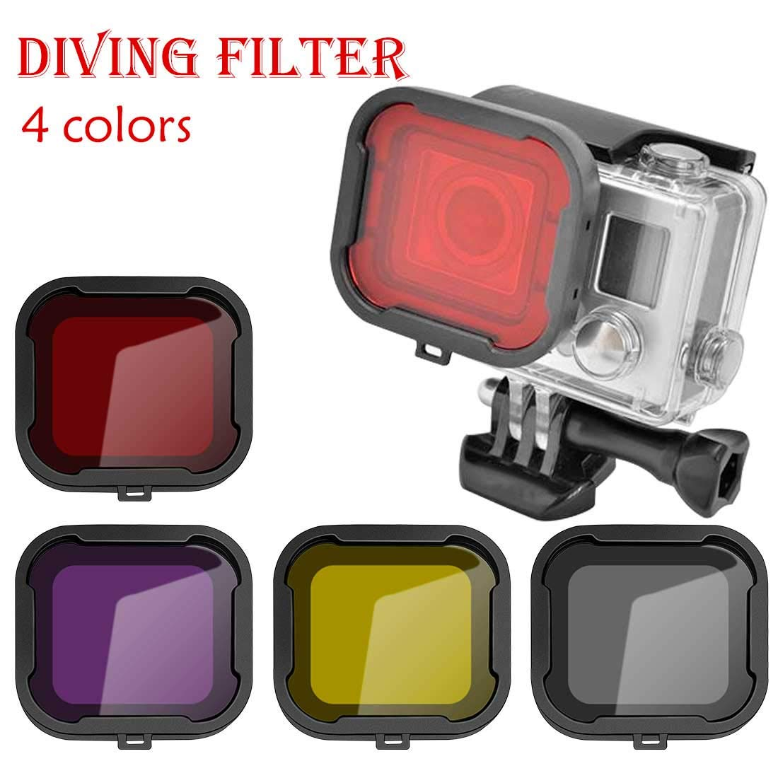 ihen-Tech Underwater Diving Filter Lens Cover Filter for GoPro Hero Camera Black Suit Housing Case-Yrllow