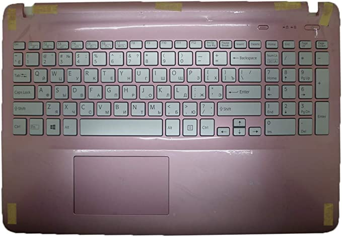 Laptop Palmrest/&Keyboard for Sony VAIO SVF152 Series 3PHKDPHN0D0 V141706C International English UI Pink with Backlit/&touchpad