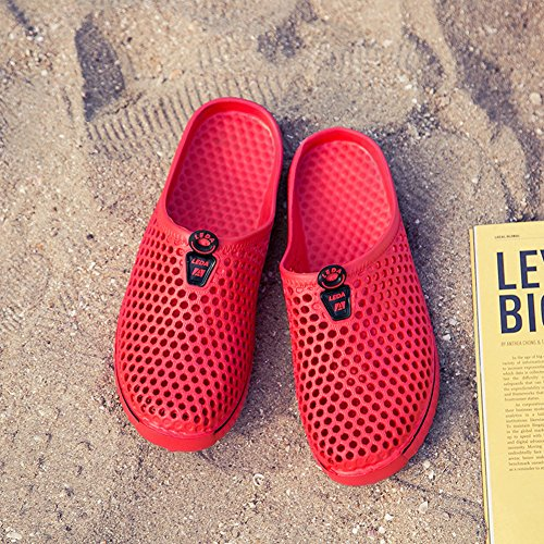 Shoes Women's Red Sandals Walk Garden Go Comfy Clogs ERGGU Breathable Slippers ZtRqq