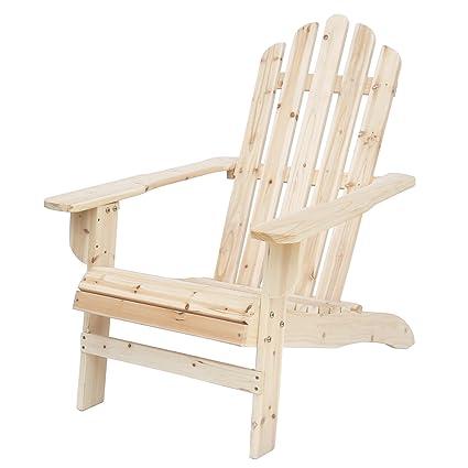Amazon Com Songsen Outdoor Log Wood Adirondack Lounge Chair Patio