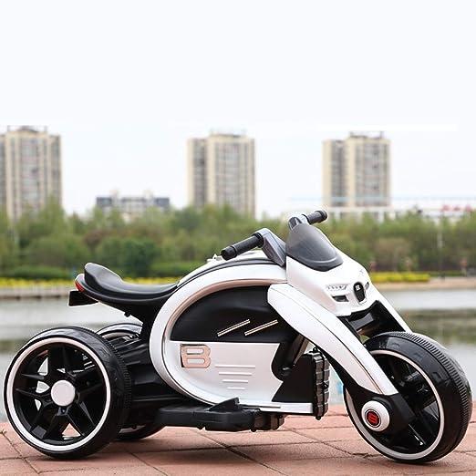MEILA Niño Moto eléctrica Puede sentarse Paseo Triciclo Gran ...