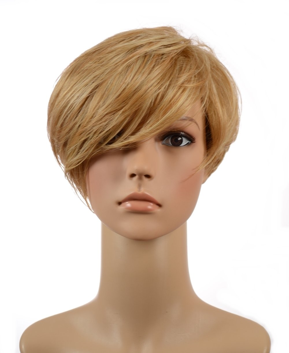 Amazon Short Blonde Talisha Pixie Cut Wig Long Sideswept