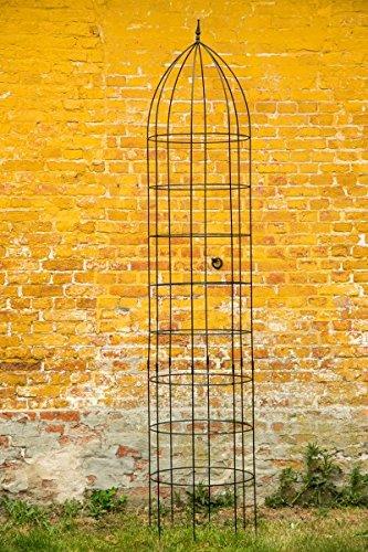 Rankgerüst Rankhilfe Jumbo Obelisk Ø: 60cm Schwarz H: 300cm