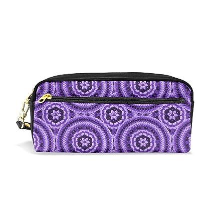 Crochet Mandala Purple_2517 Bolsas de cosméticos Estuche de ...