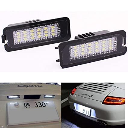 Amazon.com: 18SMD LED Number License Plate Light Kit For Porsche Boxster Cayman Carrera Cayenne 987/997/958 (Pack of 2Pcs): Automotive