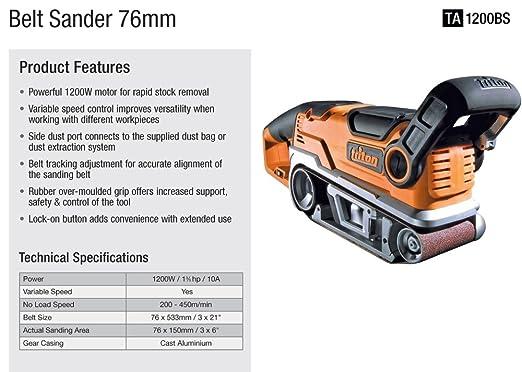 Triton TA1200BS Belt Sander 3-Inch by 21-Inch