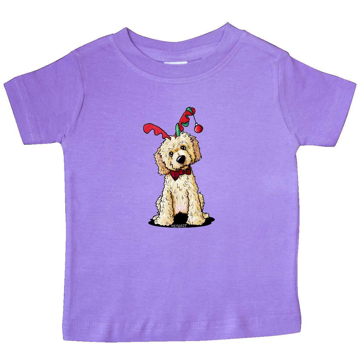 KiniArt inktastic KiniArt Goldendoodle Reindeer Baby T-Shirt