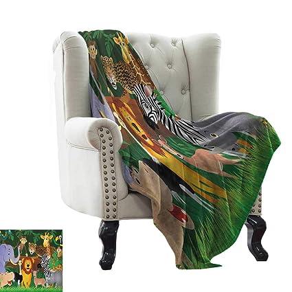 Amazon.com: warmfamily Zoo,Lightweight Blanket,Animals in ...