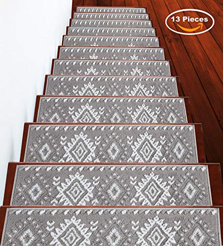 """Sussexhome Stair Treads Traditional Collection Contemporary, Cozy, Vibrant and Soft Stair Treads 