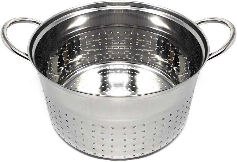 Inserto per Cottura a Vapore /Ø 24 cm Cestello per la Cottura a Vapore in Acciaio Inox Cestello Vapore Space Home