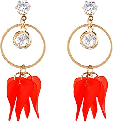 Efulgenz Chandelier Gold Long Tassel Dangle Drop Statement Earrings for Women Girls Bride Bridesmaid