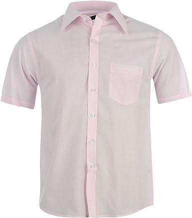 Pierre Cardin - Camisa de manga corta para hombre rosa S: Amazon.es: Ropa y accesorios
