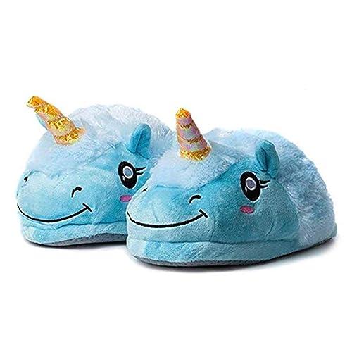 Zapatillas Unicornio Casa para Mujer Niñas Zapatos de Felpa Casa Lindas de Invierno Pantuflas de Estar por Casa Invierno: Amazon.es: Zapatos y complementos